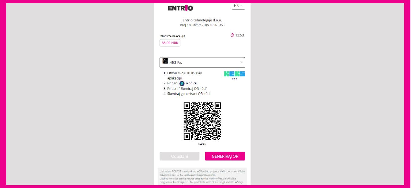 I to je to, ostalo je samo skenirati QR kod! Nakon potvrde plaćanja, ulaznica stiže na tvoj mail.