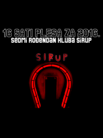 16 sati plesa za 2016. i sedmi rođendan kluba Sirup