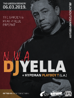 DJ YELLA (N.W.A) U THE GARDEN BREWERY