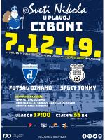Sv. Nikola u plavoj Ciboni, 1. HMNL: Futsal Dinamo - Split Tommy