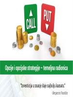 Opcije i opcijske strategije – temeljna radionica - subota 29.02.2020.