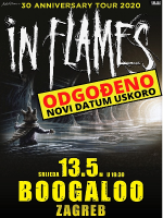 Švedske metal legende IN FLAMES 13.05.2020. Boogaloo, Zagreb