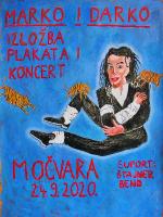 Marko i Darko - izložba plakata + koncert u Močvari