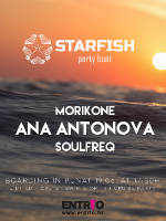 STARFISH Boat Party vol.1 - ANA ANTONOVA ,MORIKONE ,SOULFREQ